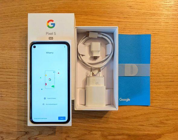 Google Pixel 5 5G 8/128 GB Czarny Jak Nowy Zestaw