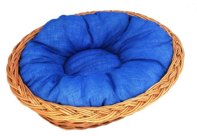 """Zestaw legowisko """"zwykłe"""" 53 cm + poduszka jasno-niebieska"""