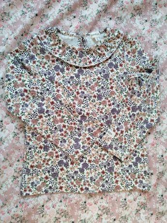 Newbie piękna bluzka tunika bluzeczka w kwiaty 98/104