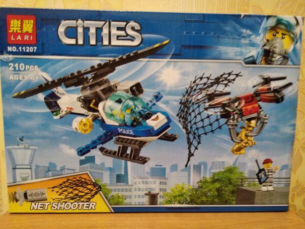 Конструктор Cities 210 деталей. Вертолет