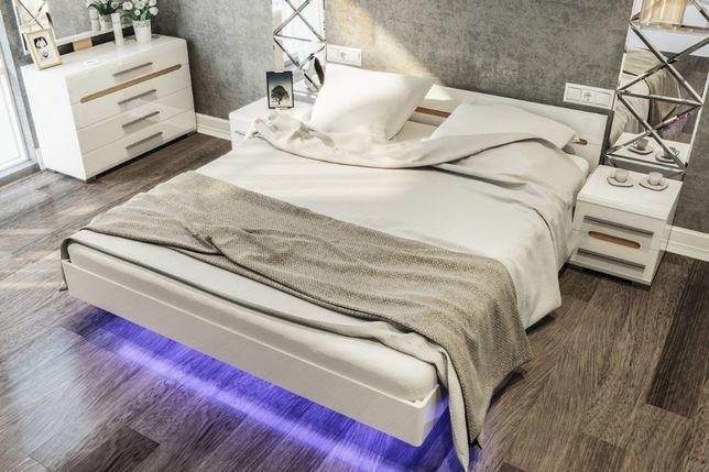 Кровать Бьянко 1600*2000 (цена с каркасом и подсветкой)АКЦИЯ