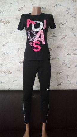 adidas футболка + adidas лосины леггинсы спортивные штаны