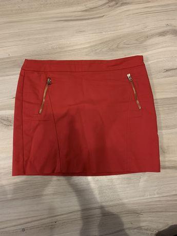 mango czerwona spódniczka 40