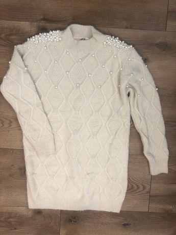 Sweter / sukienka z perełkami