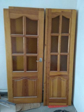 Двери межкомнатные входные с коробом наличкой дерево Котел Кирпич бу