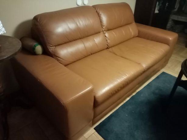 Sofa skórzana nierozkładana
