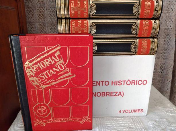 Nobreza de Portugal e Brasil e armorial lusitano (4 livros novos)