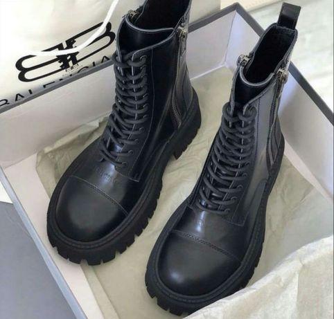 Balenciaga 35 36 37 38 39 40 ботинки кожаные женские баленсиага зимние