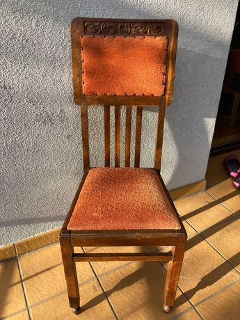 krzesło dębowe, eklektyczne