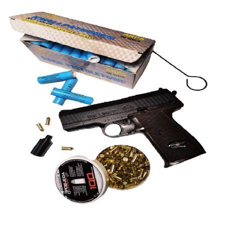 Zestaw Pistolet Hukowy LEXON 11 Nowy Model Amunicja100szt+Kometa50szt
