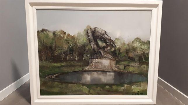 Obraz olejny Pomnik Chopina w Łazienkach autor Zbigniew Czajkowski