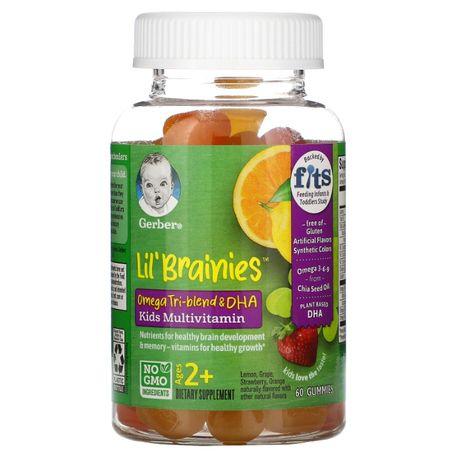 Мультивитаминный комплекс для детей Омега 3-6-9 Gerber Lil