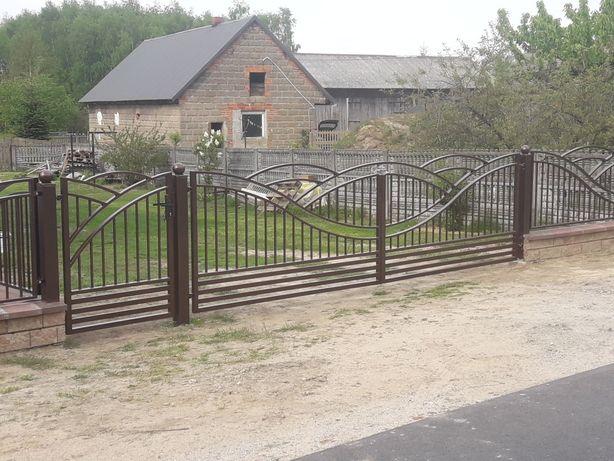 Ogrodzenia przęsła. Brama dwuskrzydłowa lub przesuwna z furtką NOWOŚĆ