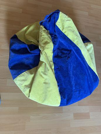 Кресло мешок безкаркасное желто-синее