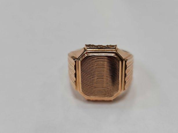 Klasyczny złoty sygnet męski/ Radzieckie 583/ 10.33 gram/ R28