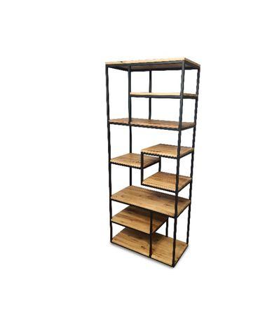 Regał industrialny,loftowy, metalowy, drewniany,dębowy, drewniany