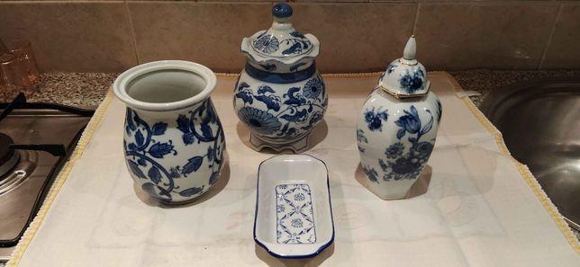 3 Potes De Porcelana/Louça