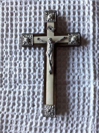 Antiguidade Crucifixo em madeira.