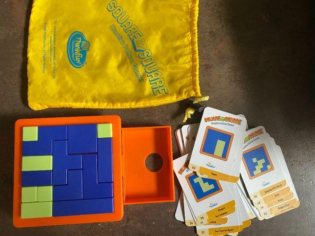 настольная игра, головоломка Think Fun Square By Square как танграм