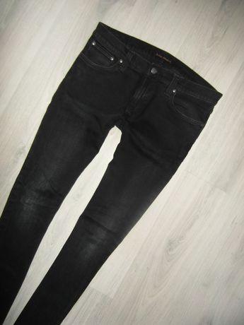 NUDIE JEANS Original Slim Spodnie męskie Czarne Jeansy 34/34 bdb