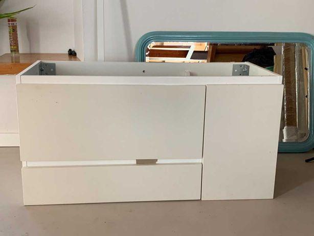 Armário p/lavatório c/2 gavetas e 1 porta