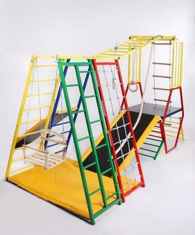 Детская игровая площадка, горка, спорткомплекс, спортивный уголок
