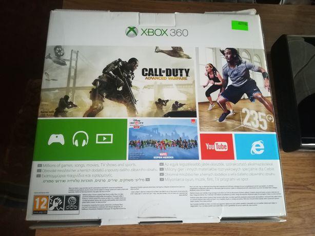 Xbox 360 E 500 GB + 14 Gier Pad WiFi Pudełko Plomba Łódź