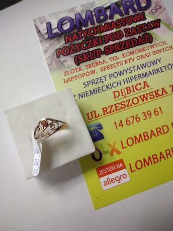Złoty pierścionek PR.585 Waga 1,60g r.15 ! Lombard Dębica