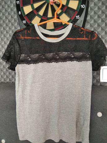 Koszulka z koronką S