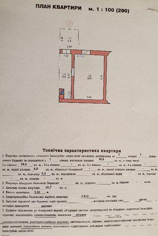 Продам однокімнатну квартиру в центрі