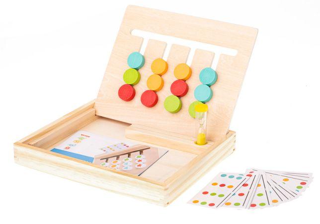 Gra Edukacyjna Drewniana Montessori Dopasuj Kolory