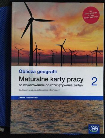 """Maturalne karty pracy """"Oblicza geografii"""" kl. 2 po szkole podst. nowe"""