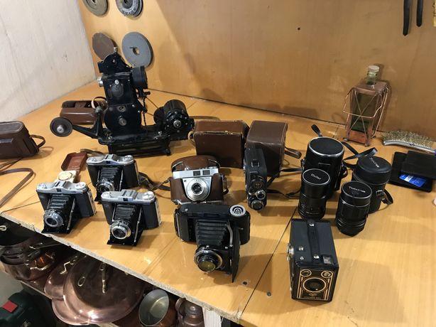 Старинные фотоаппараты,кинокамеры,проекторы,объективы