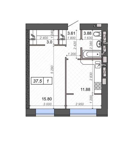 Квартира, 40м², Ново-Оскольська, ЖК Нові метри Ірпінь