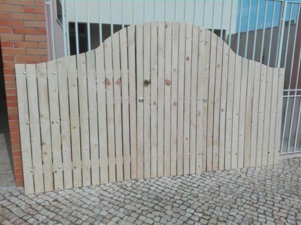 Vários tipos de portões.