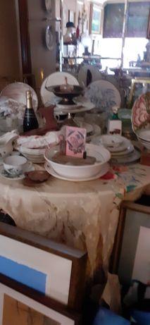 Lote de louças antigas e outros utensilios
