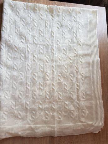 Покрывало плед на выписку, вязка
