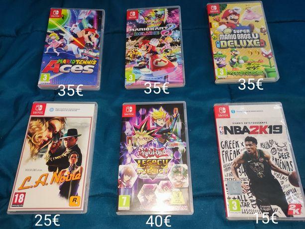 Switch - comandos e jogos( Mario, la noire, NBA, yu gi oh)