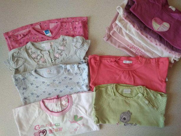 Paka dziewczynka 62/68, bluzki, body, pajace