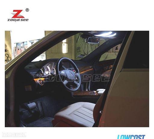 KIT COMPLETO DE 23 LÂMPADAS LED INTERIOR PARA MERCEDES BENZ E CLASE W212 SEDAN COUPE CONVERTIBLE (0