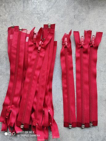 Pasmanteria-zamki rozdzielcze białe i czerwone 20 cm/ zestaw.