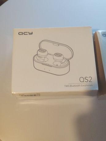Słuchawki bezprzewodowe QCY QS2 czarne, NOWE