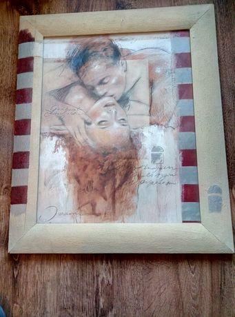 Obraz reprodukcji za szkłem 45/55 cm
