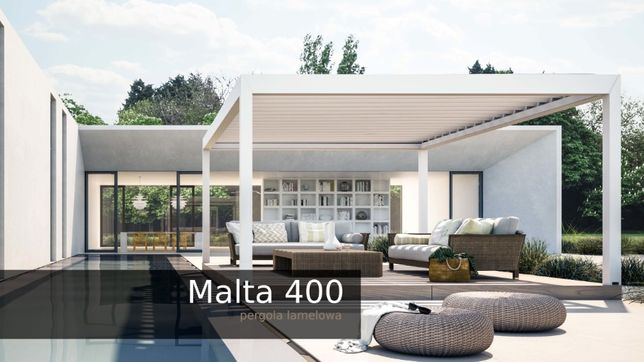 Pergola tarasowa Malta 400 sidmo pergole aluminiowe, 2,5x3,4m