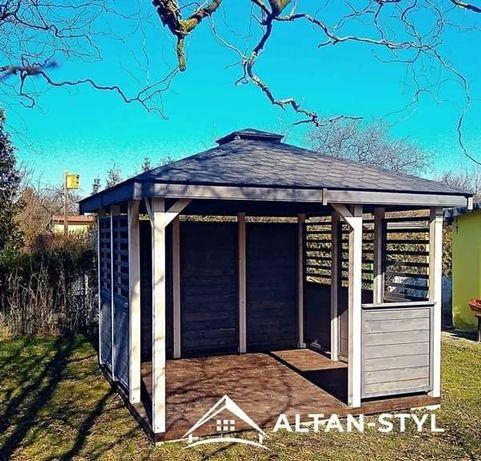 Altany, altanki, wiaty, altana ogrodowa ALICJA 3x3m PRODUCENT