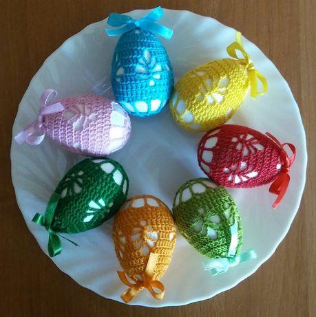 Pisanki i Koszulki szydełkowe na jajka Wielkanocne