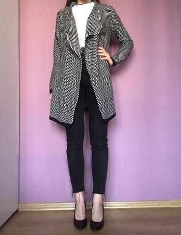 Kardigan, sweter czarny sinsay