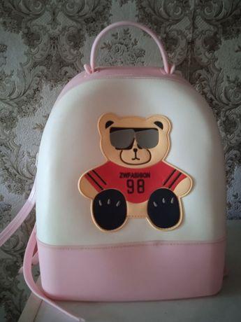 Рюкзак детский силиконовый для девочек (28х12 см)