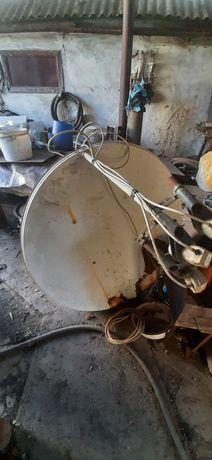 Спутниковая тарелка на 3 спутника