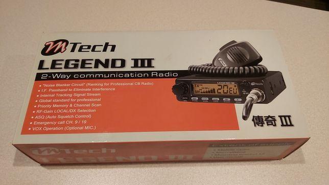 CB Radio M-Tech Legend III + antena Midland 9+